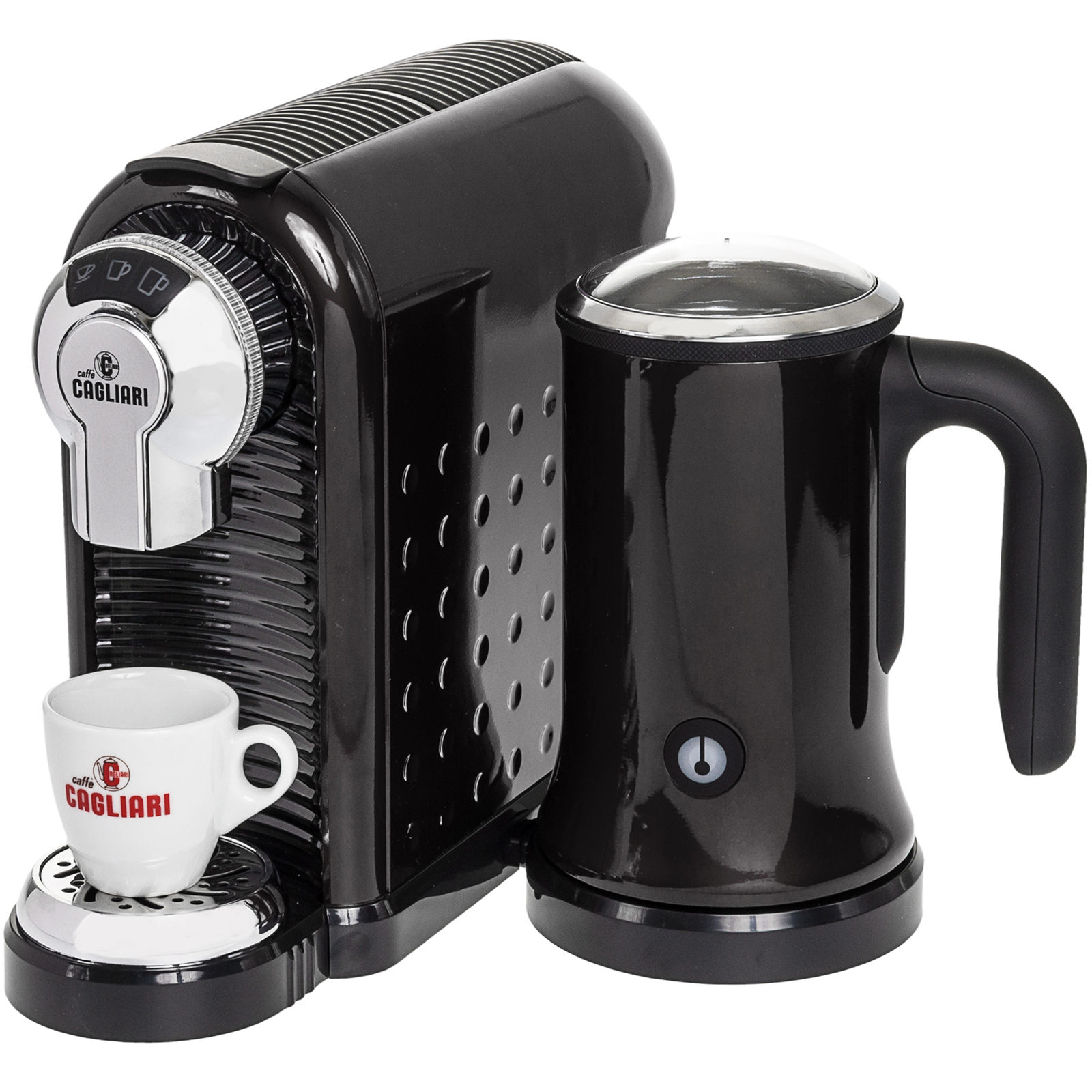 Italian Coffee Maker Small : CAFFE CAGLIARI NEW Carina Italian Coffee Espresso Machine w/ Milk Frother eBay