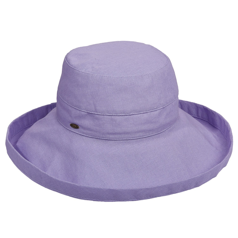 scala new womens cotton big large brim sun hat w