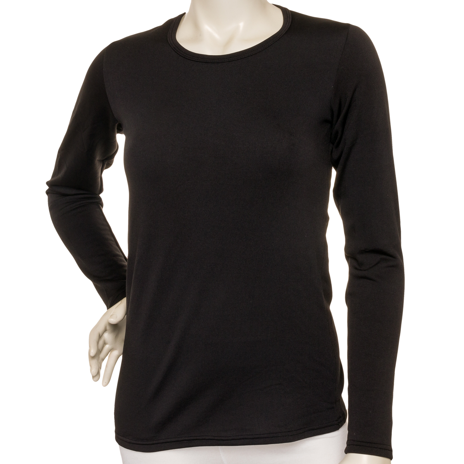 Angelina new womens fleece lined long sleeve thermal top for Types of womens shirts
