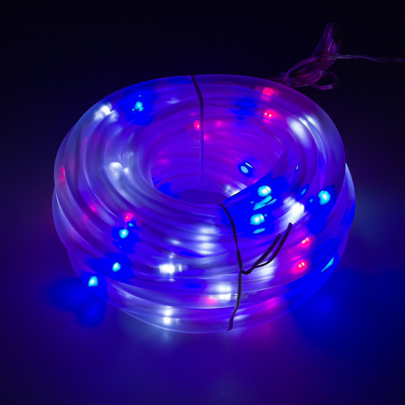 greenlighting new 32 39 foot solar rope string lights w 100 red white blue led 39 s ebay. Black Bedroom Furniture Sets. Home Design Ideas