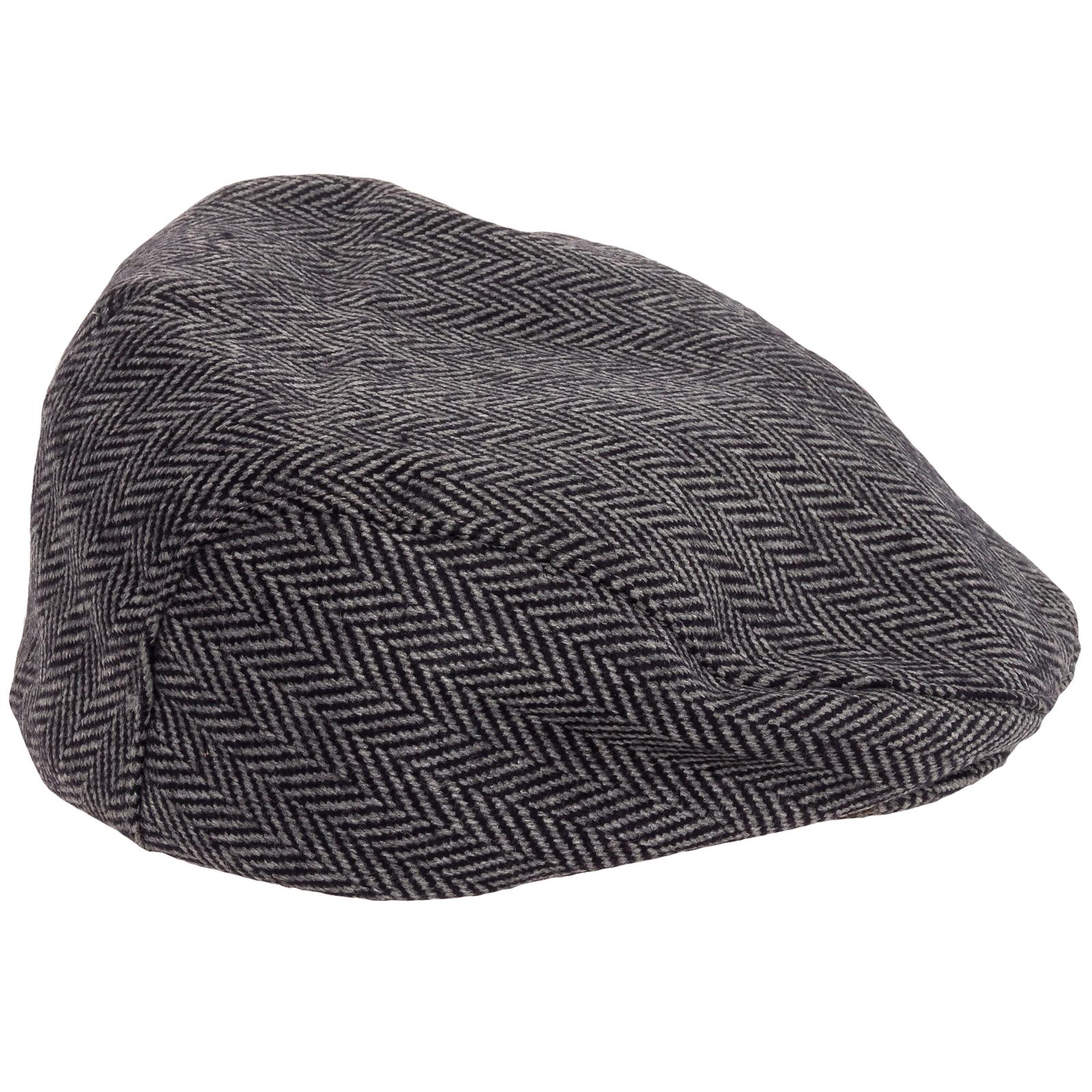 Broner Hats: Broner-Mens-Wool-Herringbone-Ear-Flap-Ivy-Scally-Driver
