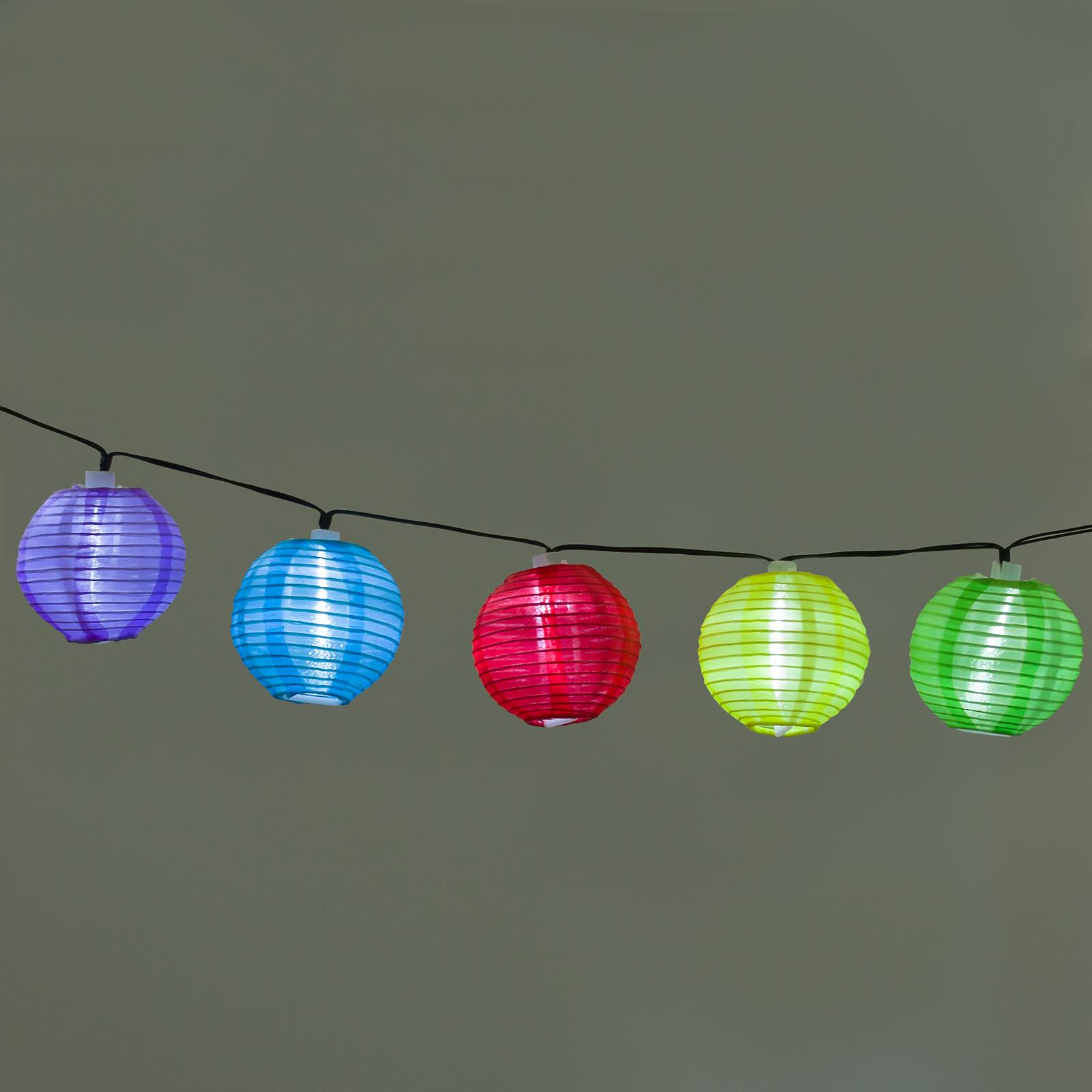 GREENLIGHTING NEW Solar Powered Lantern 20 LED Hanging Decor String Light