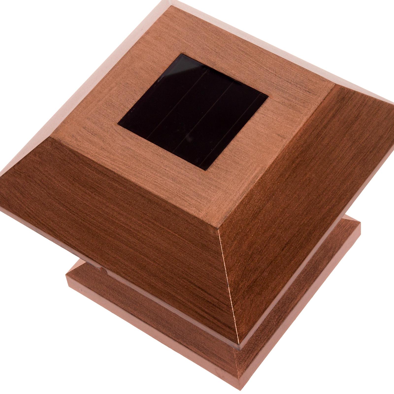 Outdoor Wooden Post Lights: GreenLighting Outdoor Summit Solar Post Cap Light For 4x4