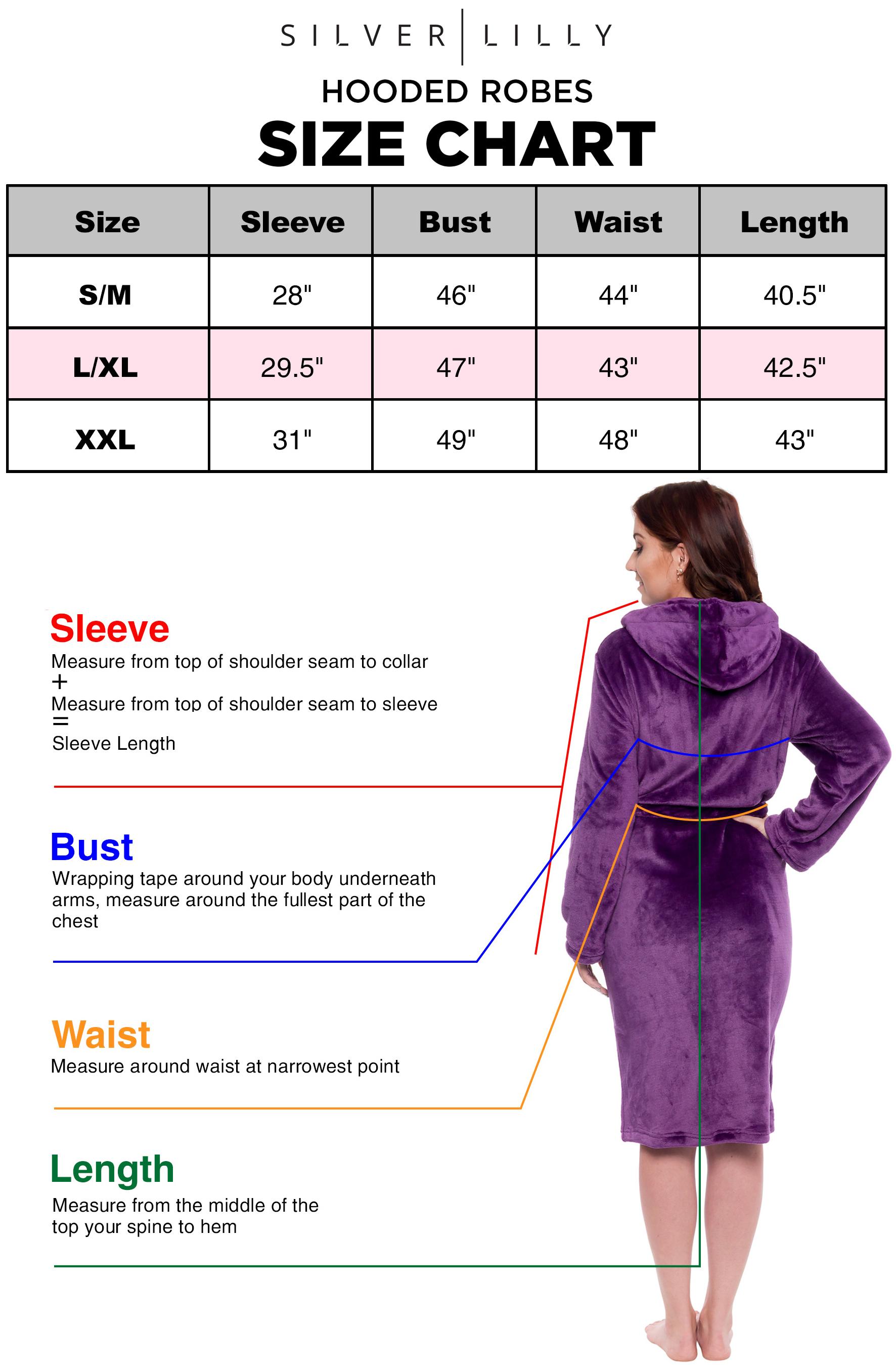 Silver Lilly Womens Plush Wrap Kimono Hooded Bath Robe Loungewear w// Tie Belt
