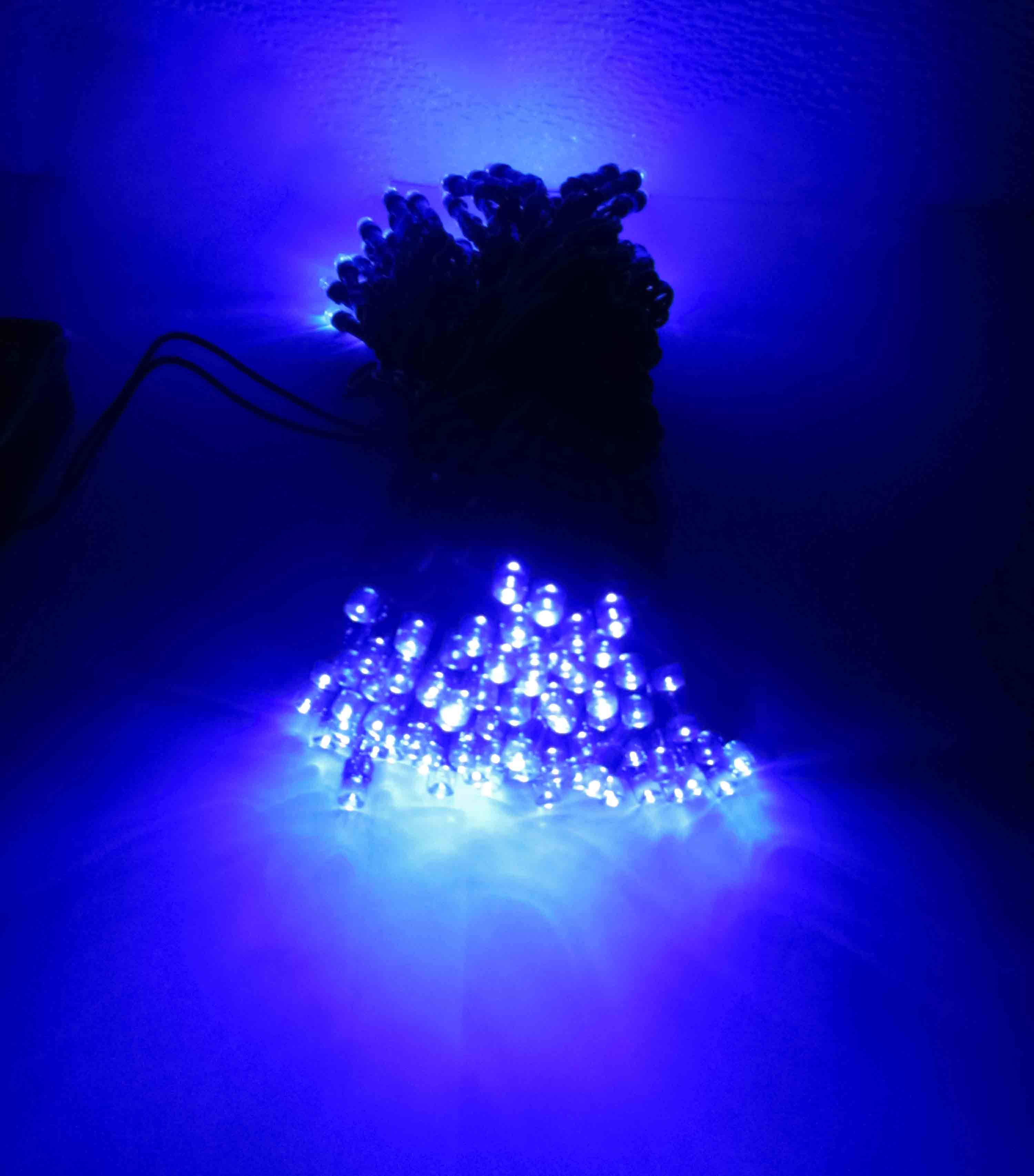 39 foot solar outdoor christmas holiday string lights with 100 led ebay. Black Bedroom Furniture Sets. Home Design Ideas