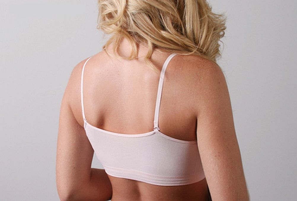 0a4721b118c26 Coobie Seamless One Size V-Neck Lace Trim Adjustable Strap Bra 9042 ...