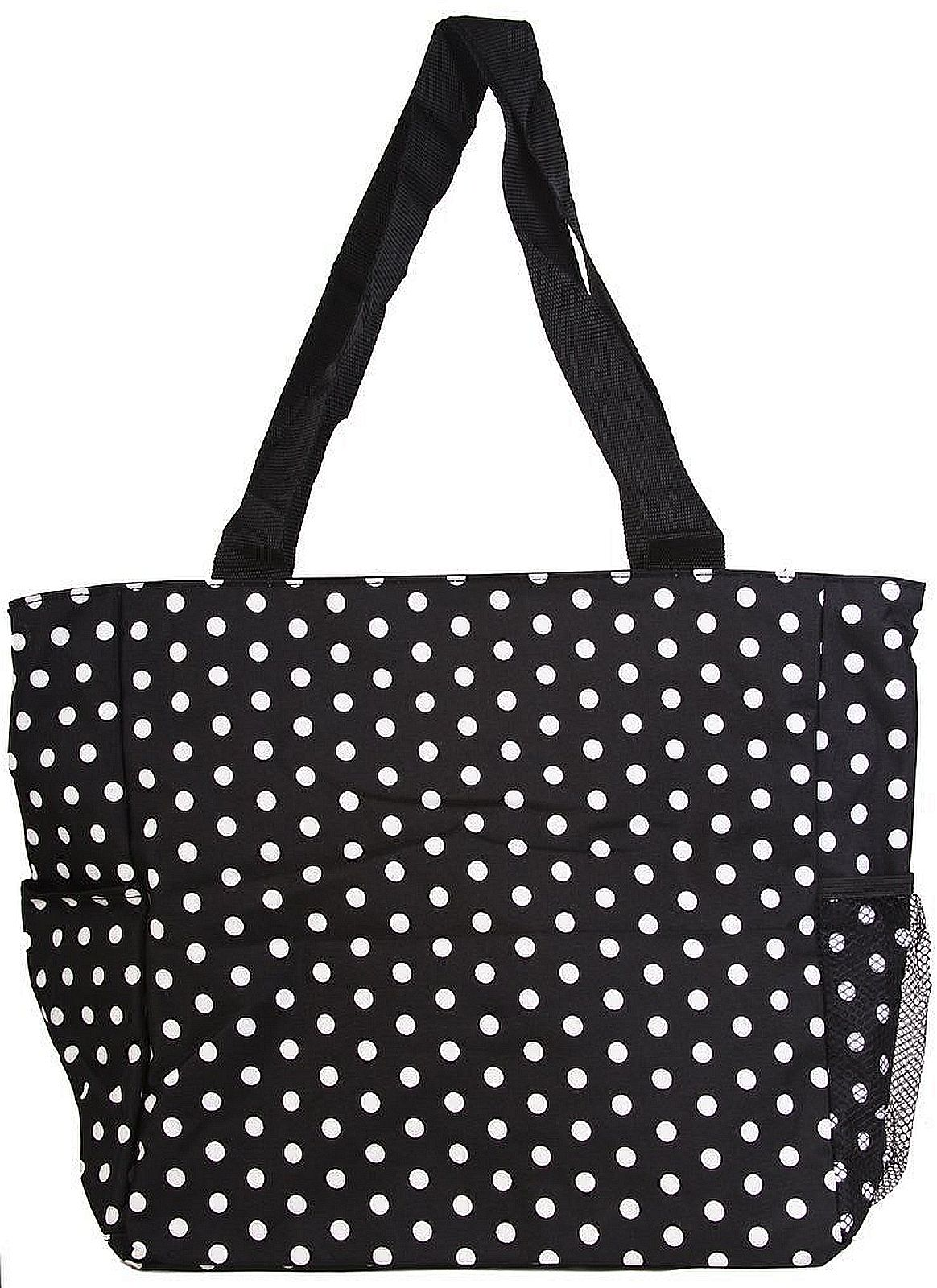 womens large print beach tote shopper weekender school gym travel bag ebay. Black Bedroom Furniture Sets. Home Design Ideas