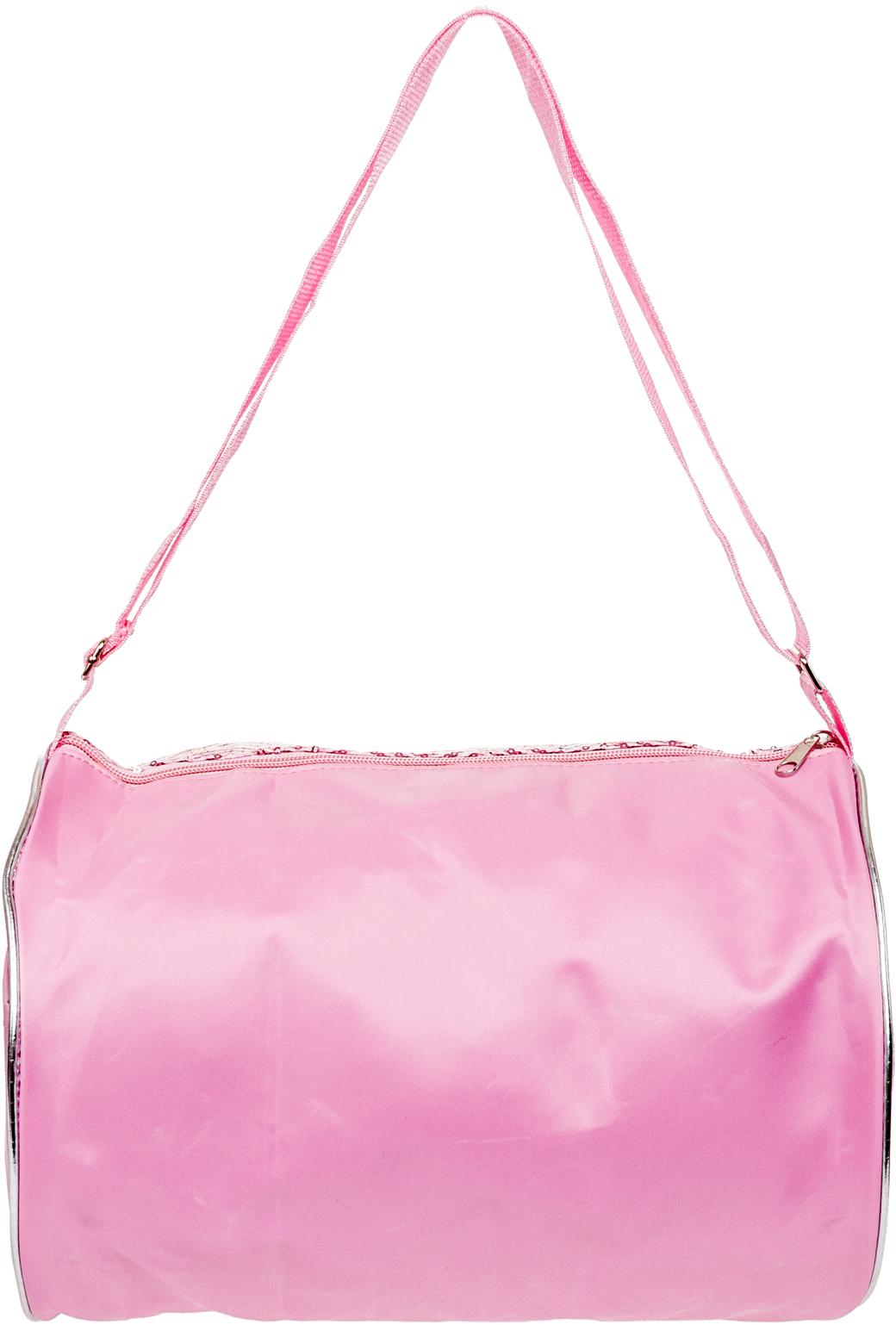 e06dbaafe616 NEW Girls Light Pink Silver Sequin Chevron Shoulder Duffle Duffel Dance Gym  Bag