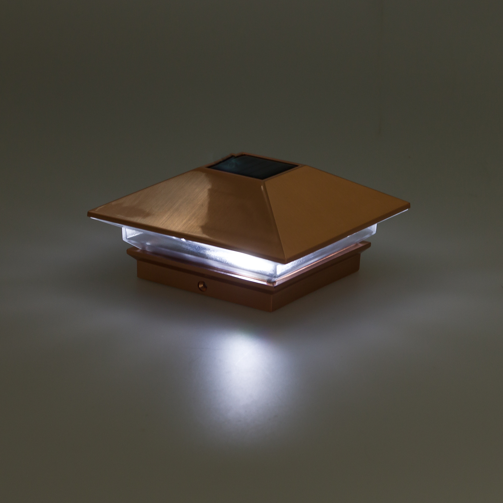 Greenlighting Nominal X Slim Led Solar Post Cap Light For Wood