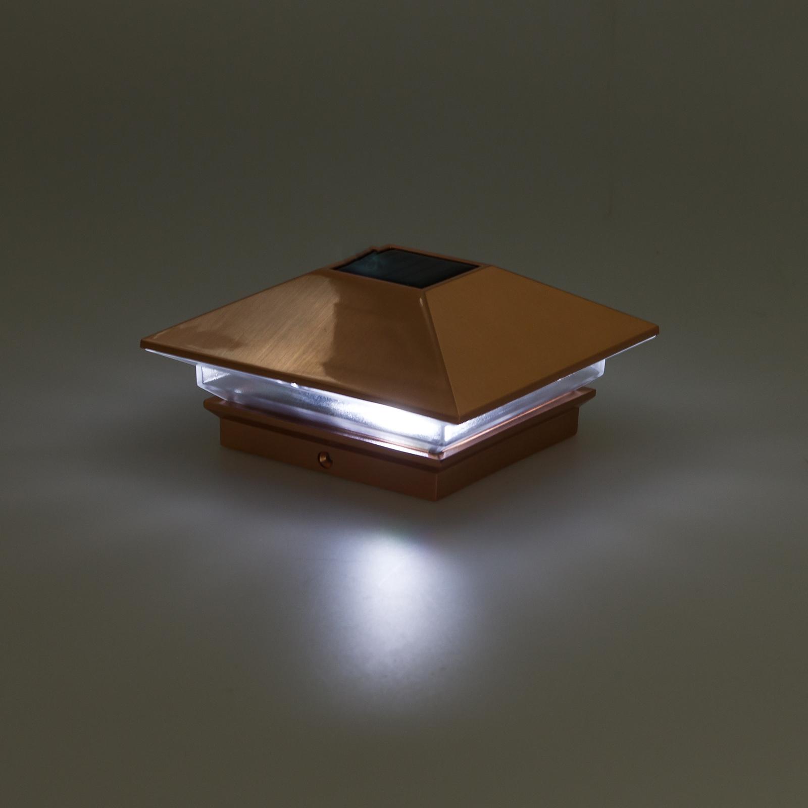 Greenlighting Nominal 4x4 Slim Led Solar Post Cap Light