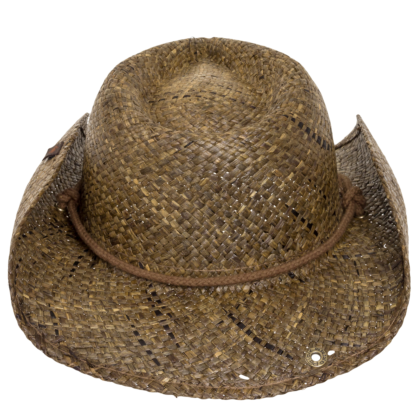 9eba244b61cc91 Peter Grimm Straw Round Up Authentic Cowboy Hat w/ Moisture Wicking ...