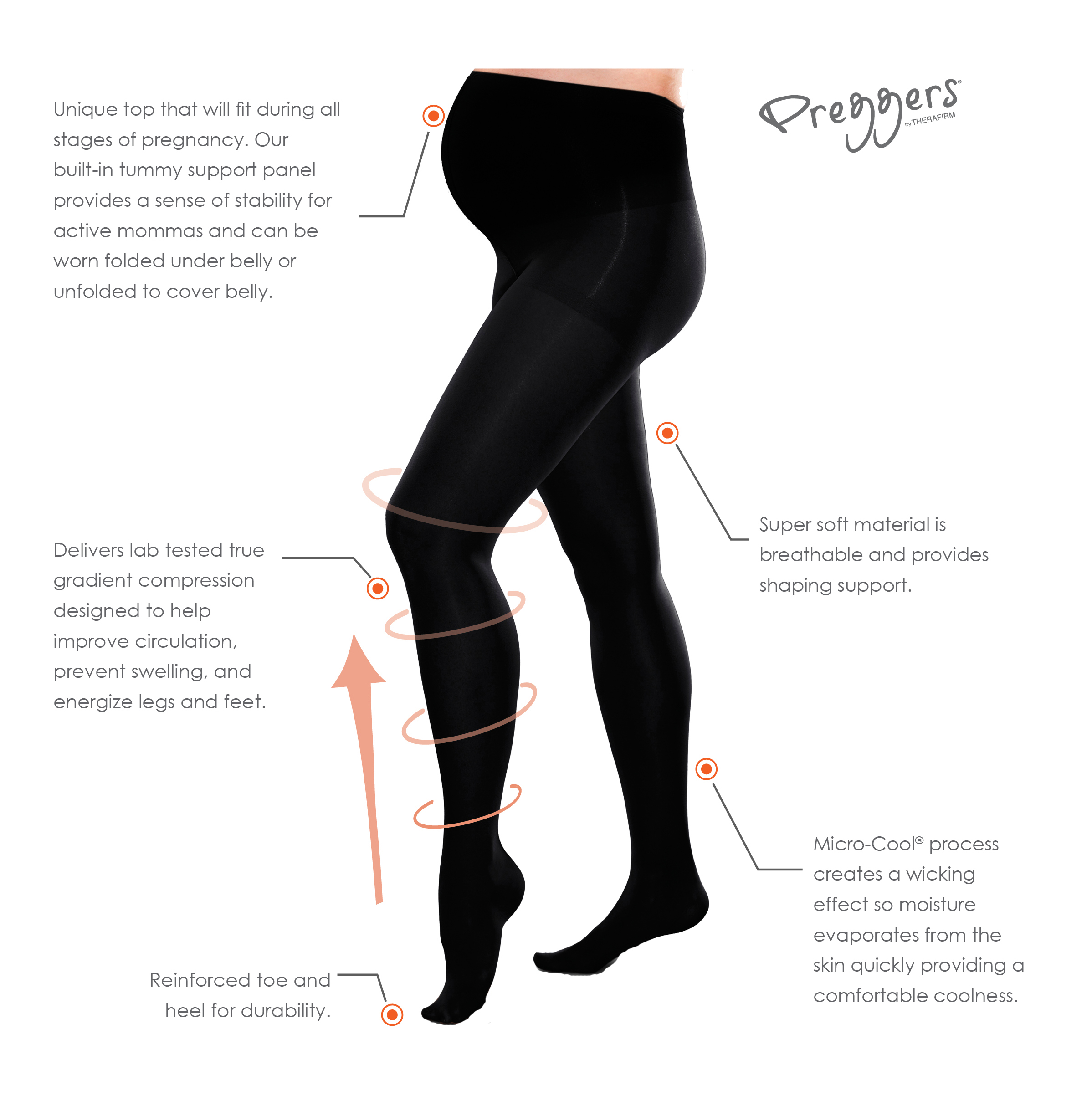 fc69045378abe Preggers-Maternity-Gradient-Compression-Hosiery-Tights thumbnail 11
