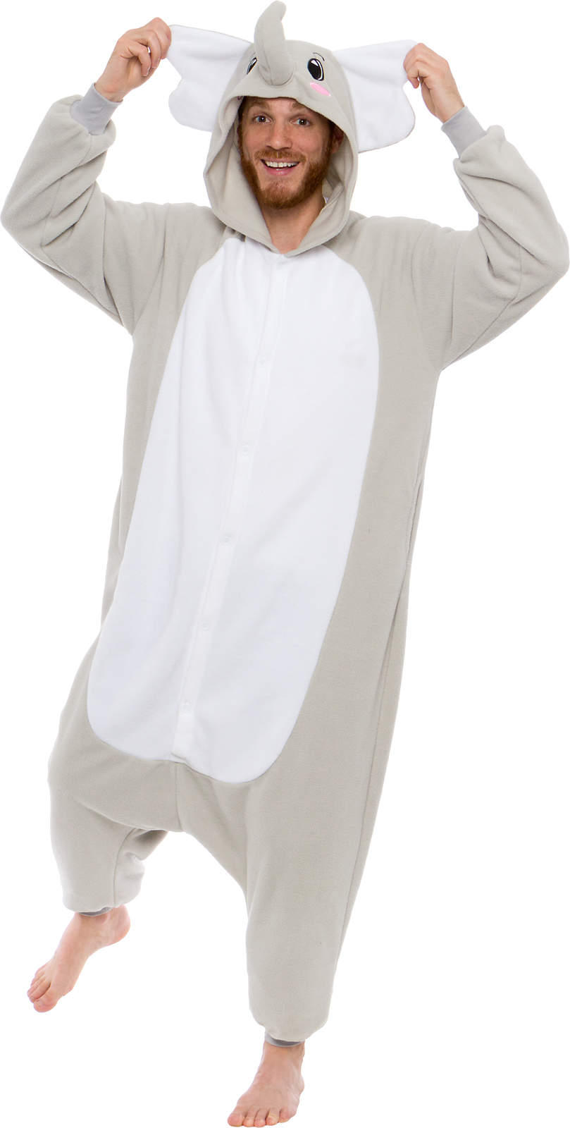 SILVER LILLY NEW Unisex Adult Plush Animal Cosplay Costume Pajamas (Elephant da0132823