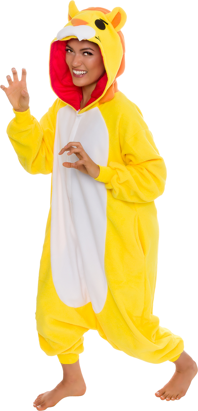 b305691fa2 Details about SILVER LILLY Unisex Adult Plush Animal Cosplay Costume Pajamas  (Lion)