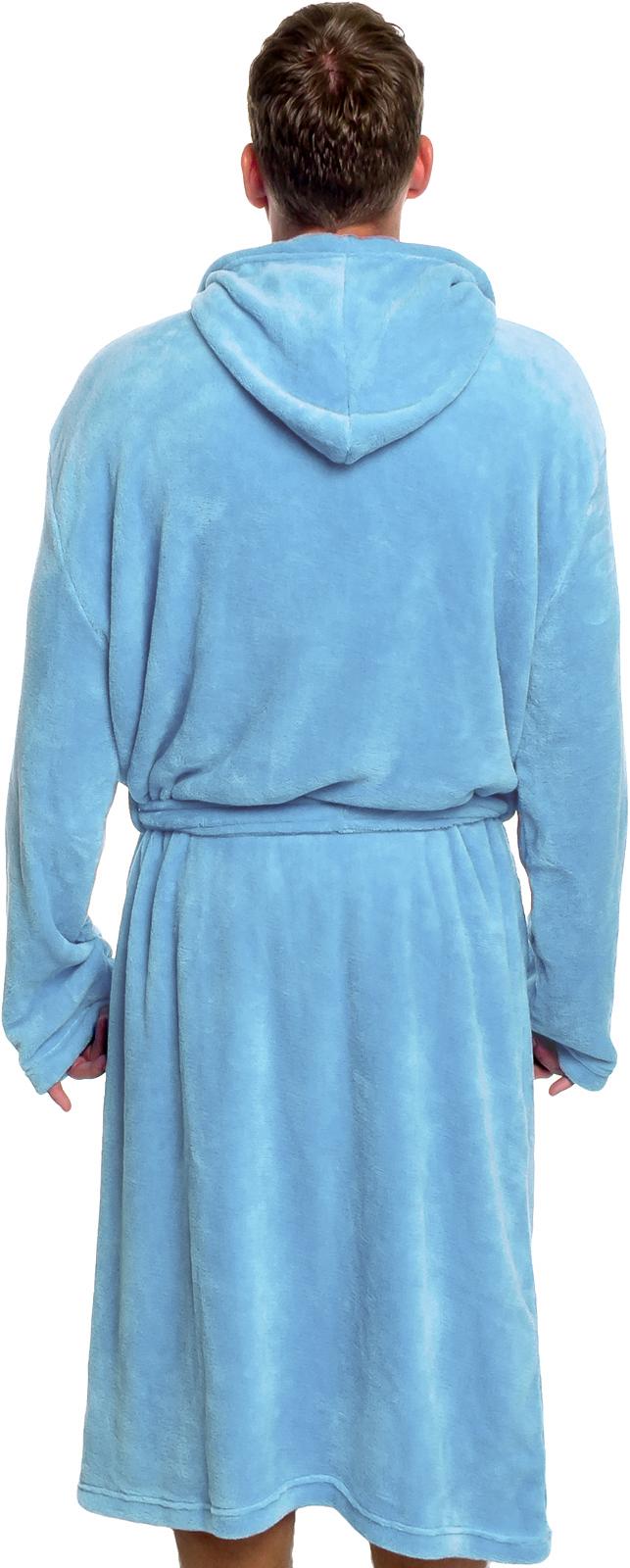 Ross Michaels Mens Plush Shawl Kimono Hooded Bath Robe Ebay