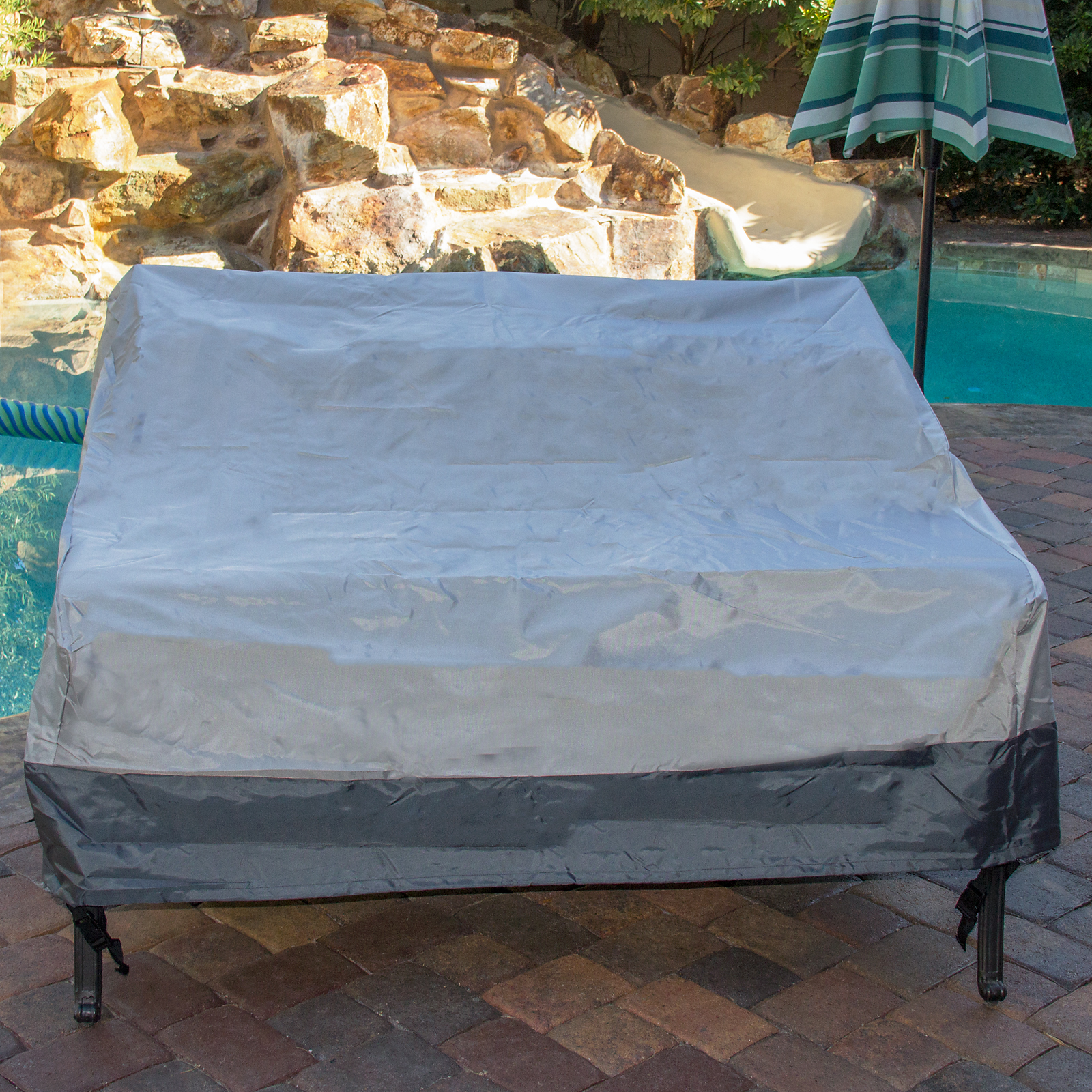 2-Seater Deep Lounge Sofa Water Resistant Outdoor