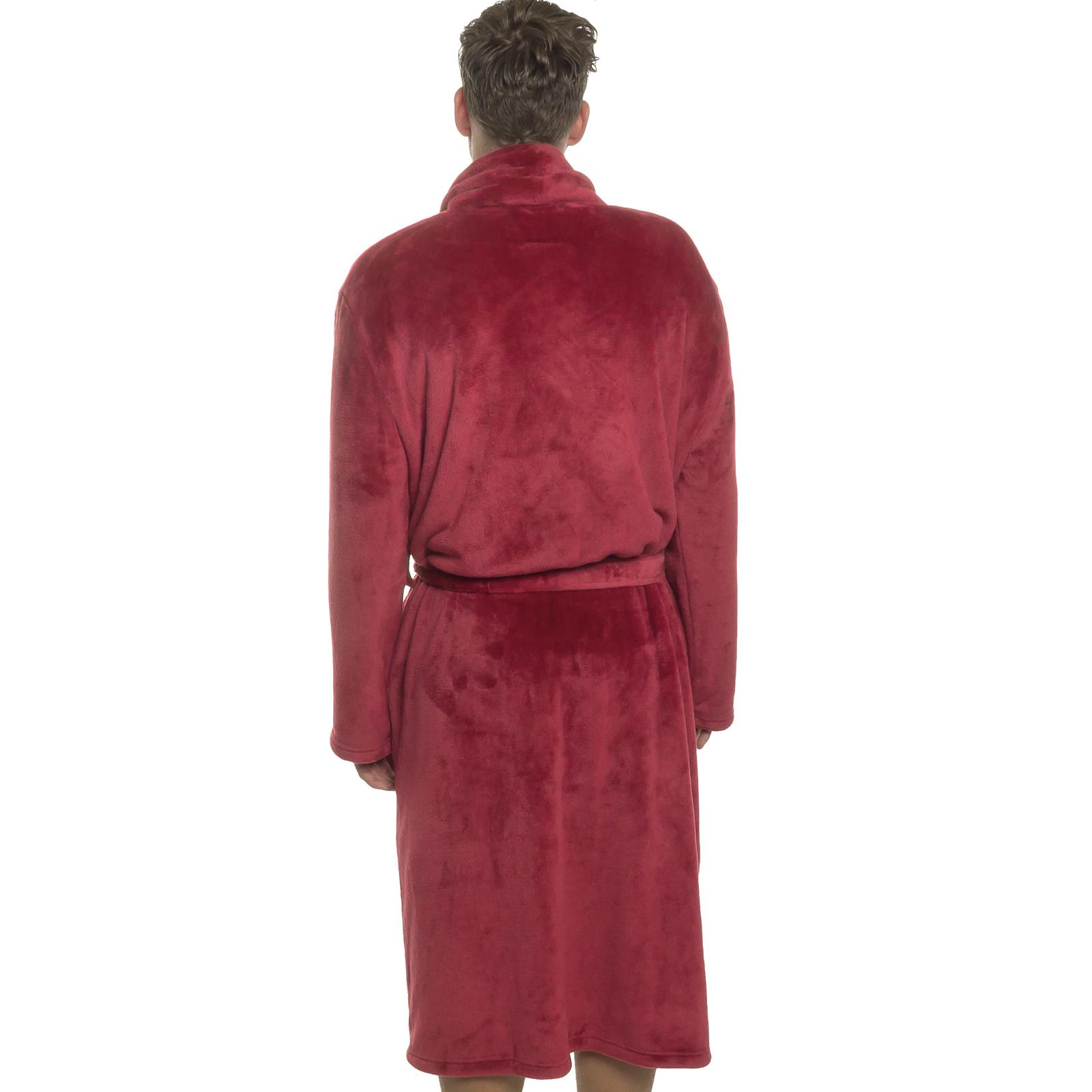 b4ea7dd4a6 Ross Michaels Mens Plush Shawl Collar Kimono Bathrobe Robe Red 100 ...