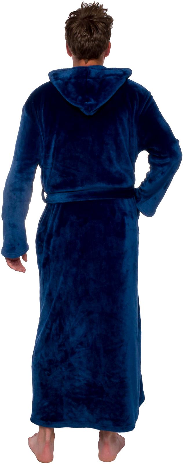 bc189d879a Ross Michaels Mens Hooded Full Length Big and Tall Long Bath Robe