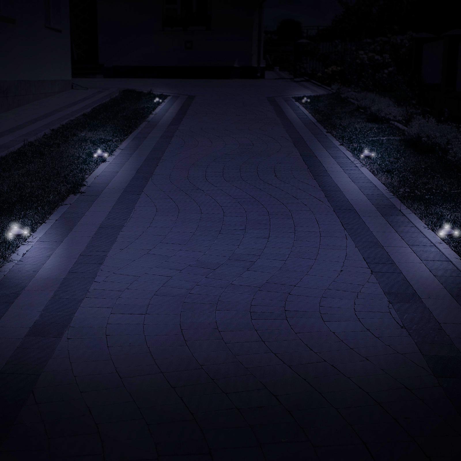 Driveway Solar Lights For Sale: GreenLighting Solar Flat In-Ground Driveway Light Set 8