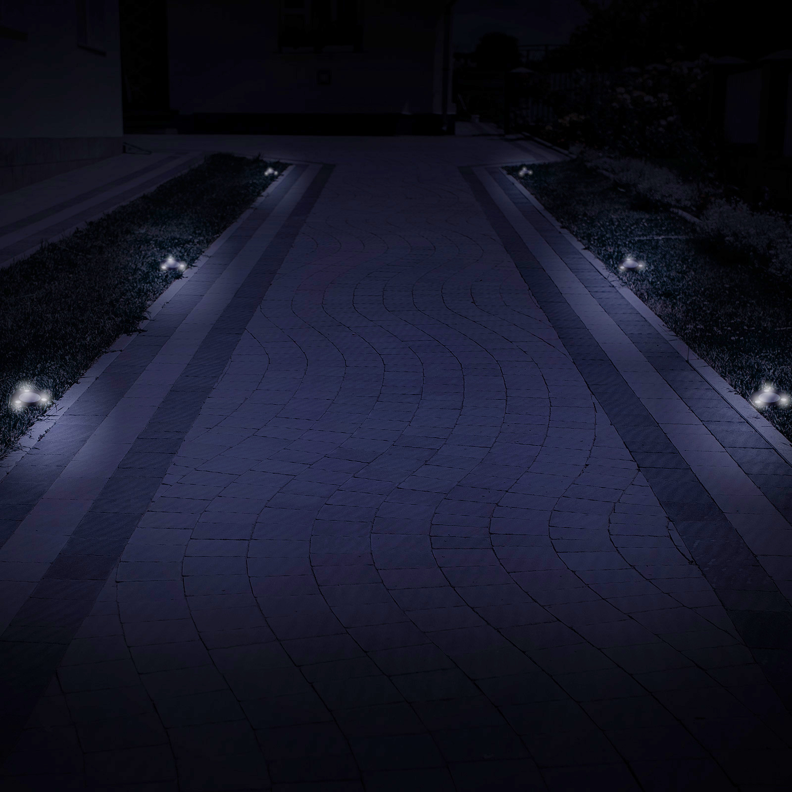 in ground lighting. GreenLighting-Solar-Flat-In-Ground-Driveway-Light-Set- In Ground Lighting