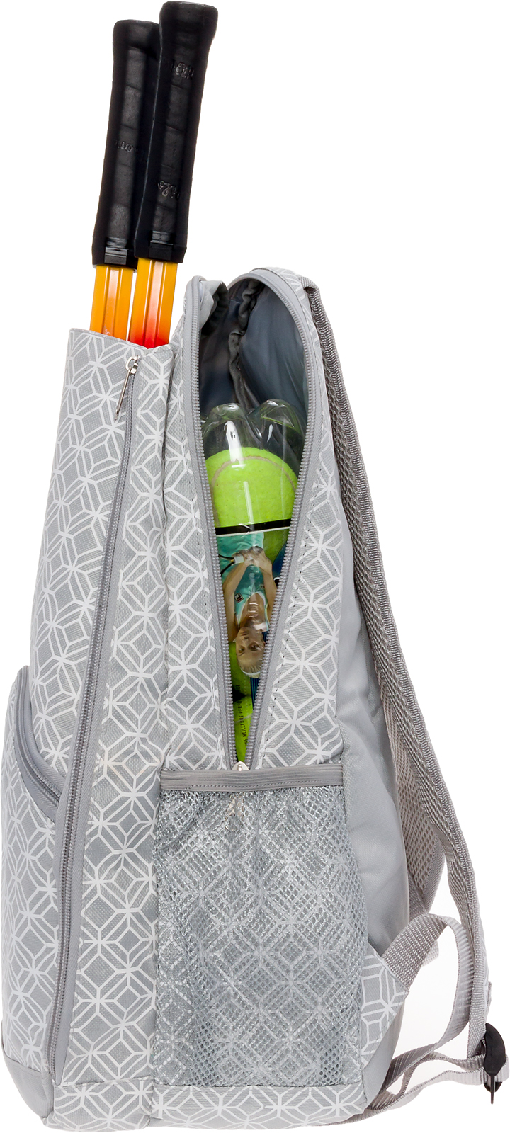 Details About Lish New Women S Ace Printed Tennis Racket Holder Travel Backpack Tote Bag