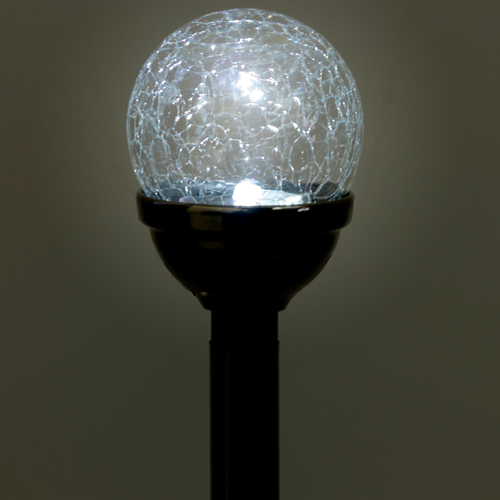 Greenlighting Mini Crackle Ball Led Garden Solar Stake