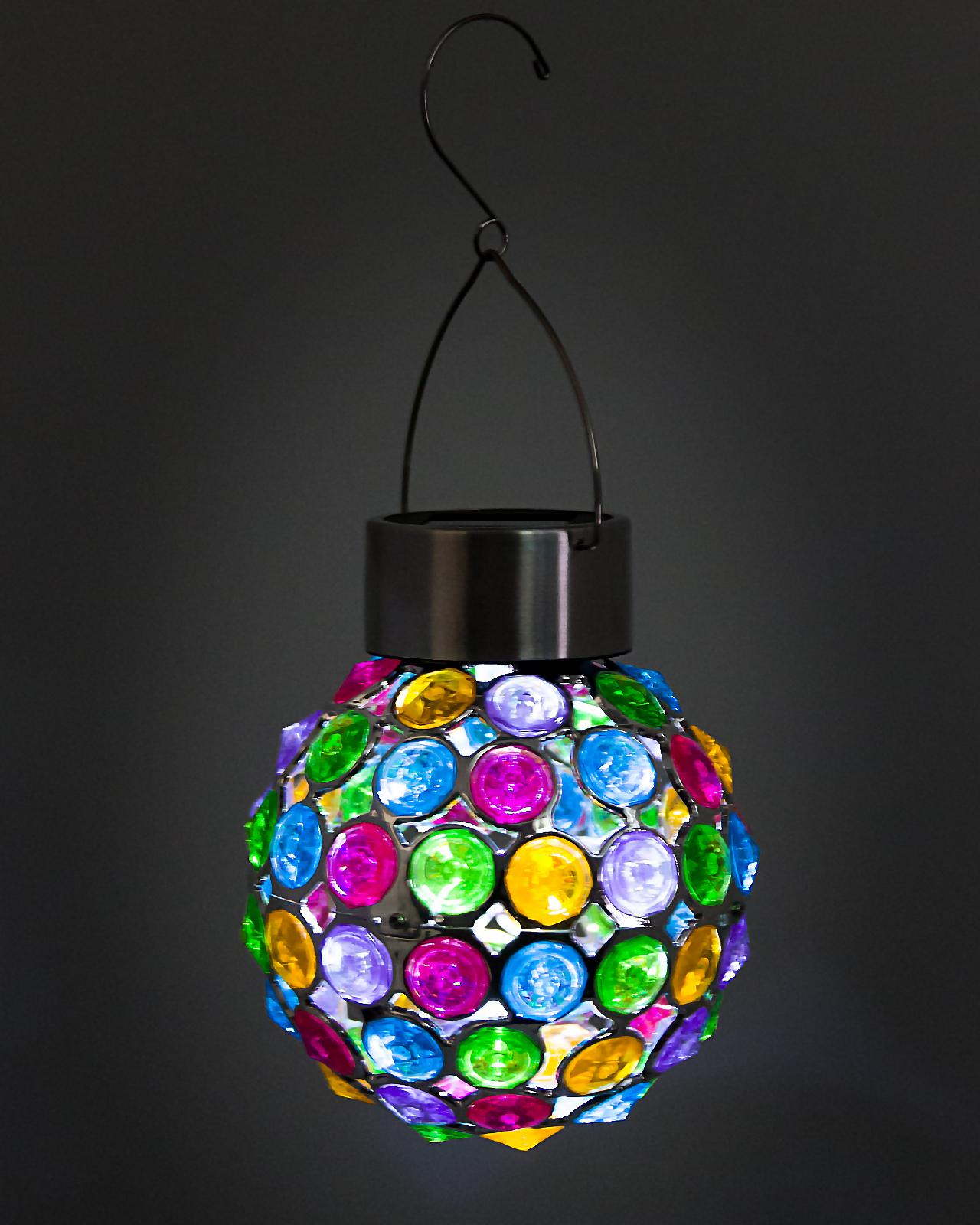 GreenLighting Outdoor Solar Hanging Lights Decorative Ball ...