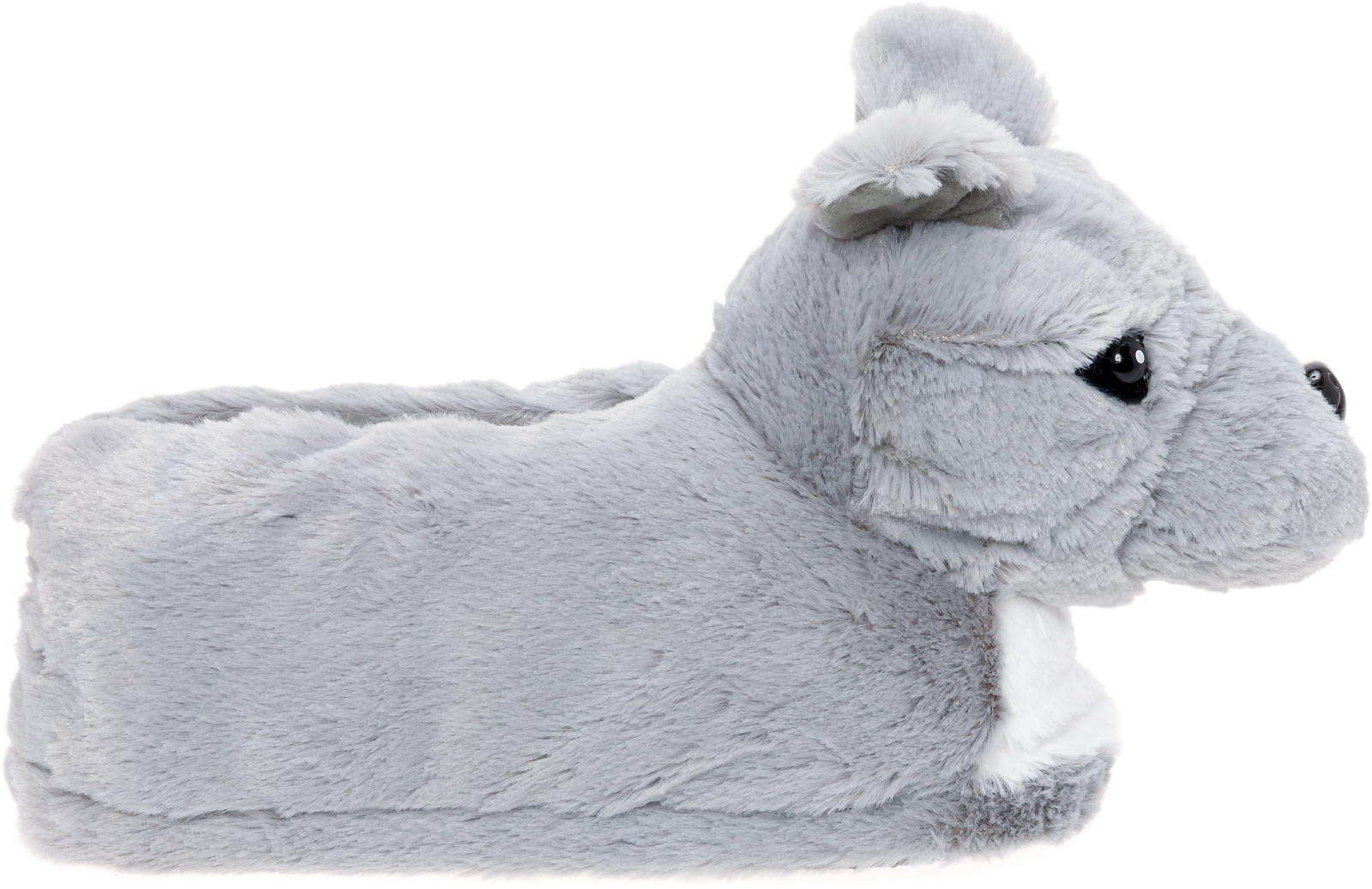 Silver Lilly Blue Nose Pitbull Plush Dog Novelty House Slippers W