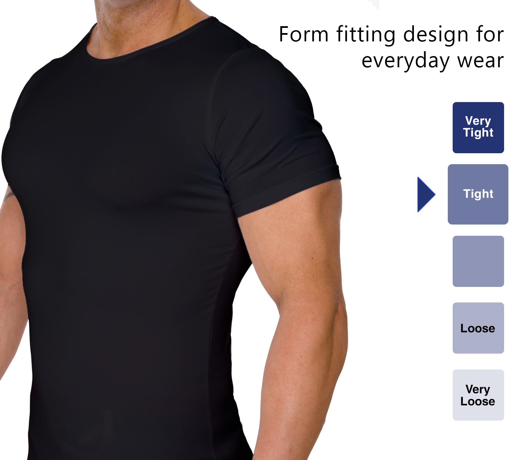 LISH-Men-039-s-Slimming-Compression-Body-Shaper-Gynecomastia-Undershirt thumbnail 9