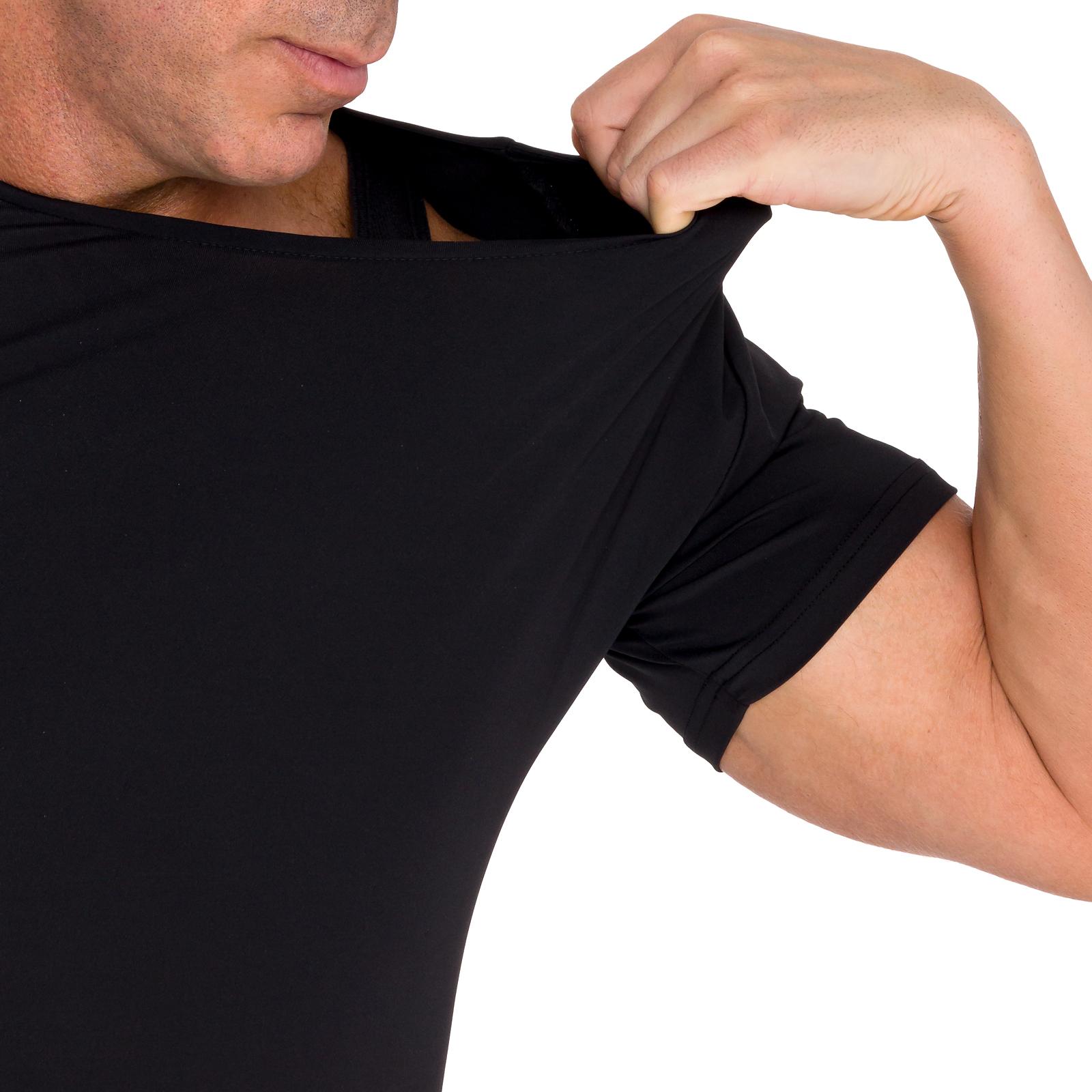 LISH-Men-039-s-Slimming-Compression-Body-Shaper-Gynecomastia-Undershirt thumbnail 11