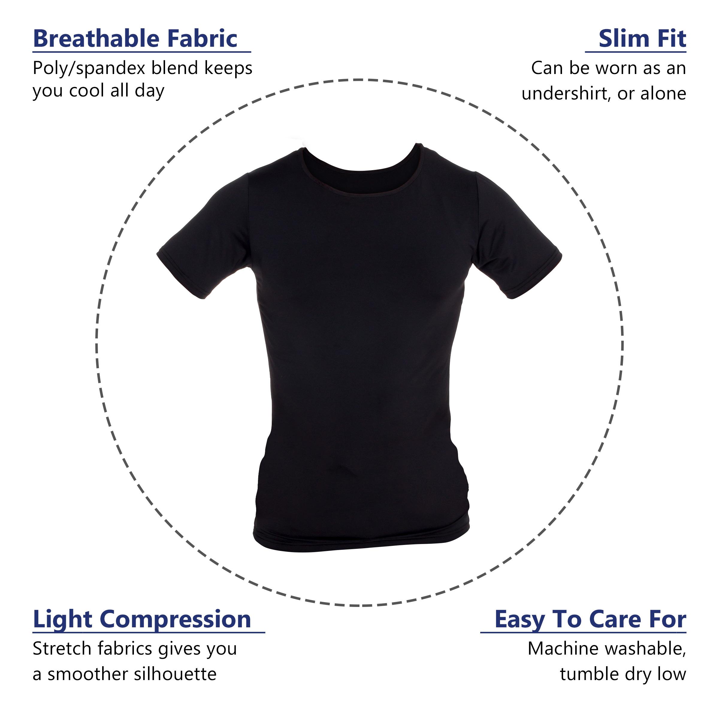 LISH-Men-039-s-Slimming-Compression-Body-Shaper-Gynecomastia-Undershirt thumbnail 13