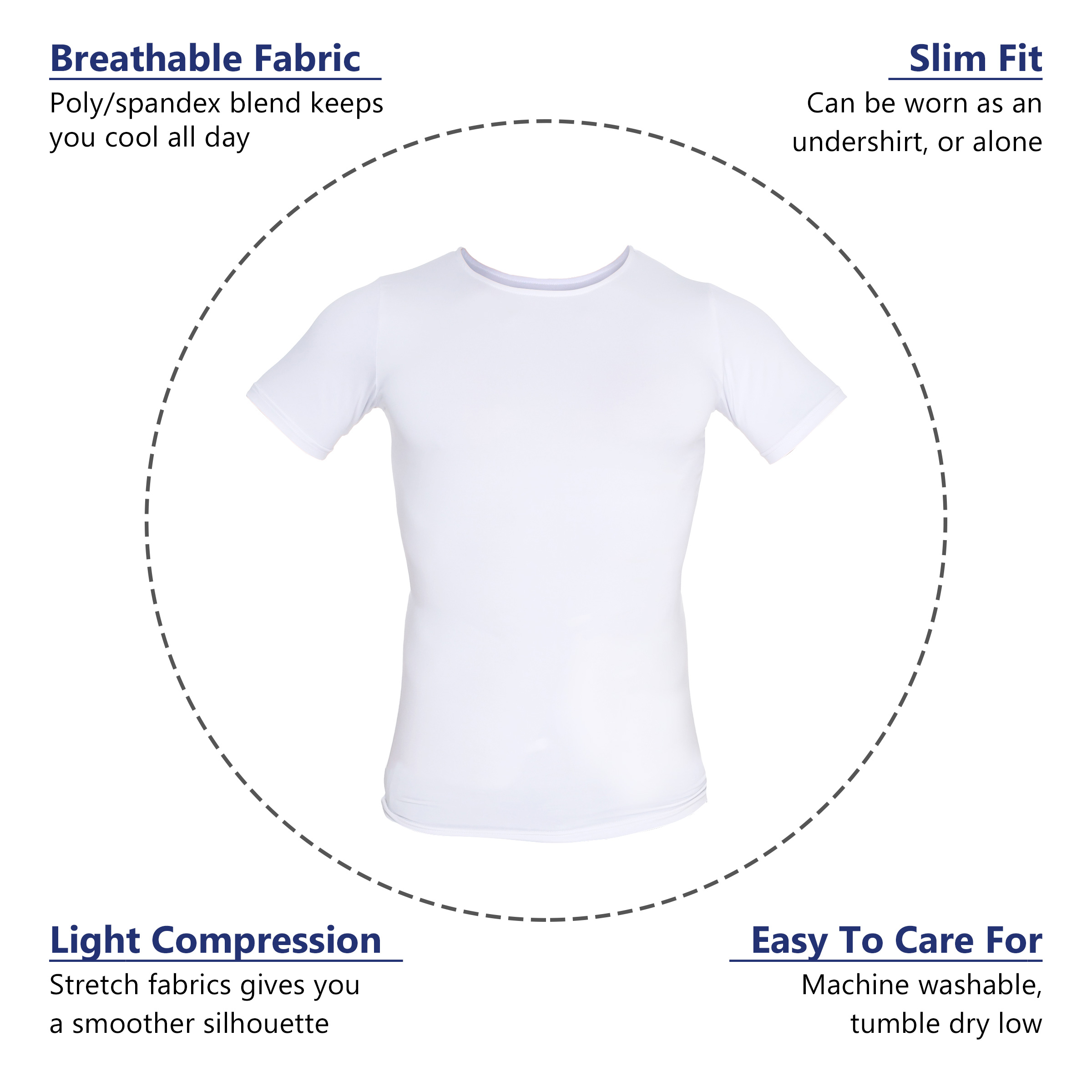 LISH-Men-039-s-Slimming-Compression-Body-Shaper-Gynecomastia-Undershirt thumbnail 27