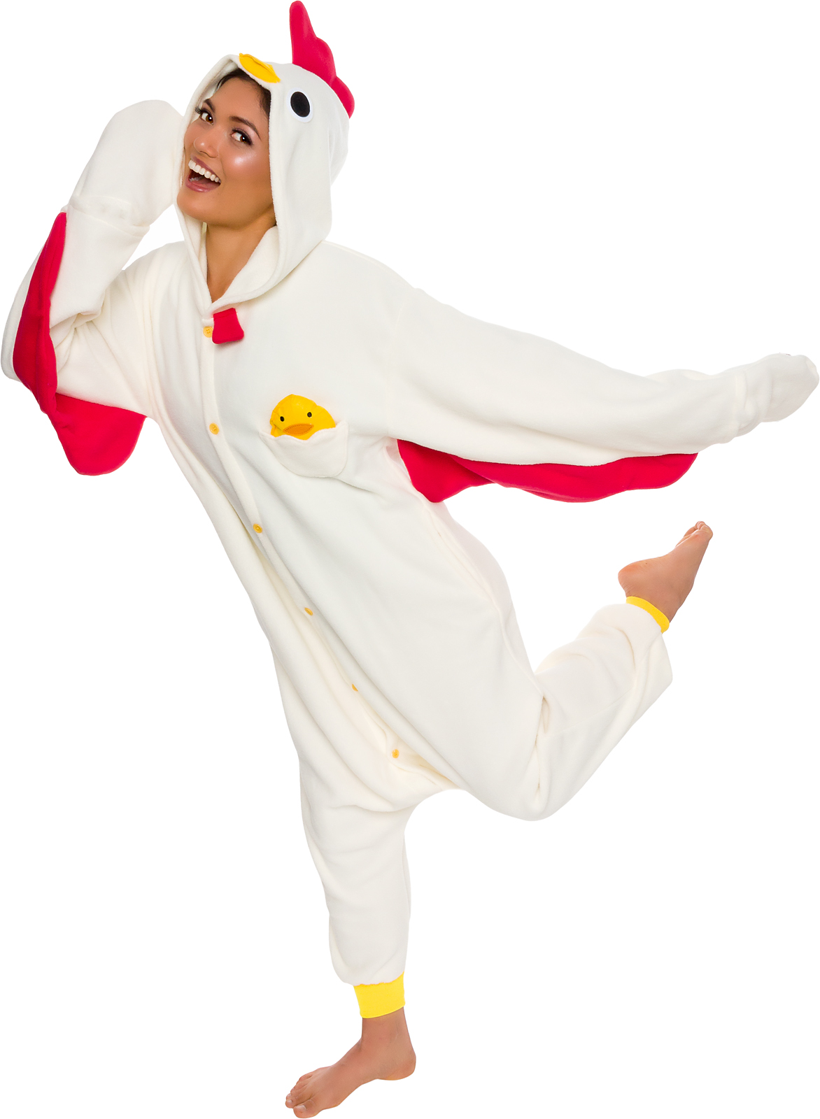 8f7e8e8766 Details about SILVER LILLY Unisex Adult Plush Chicken Animal Cosplay  Costume Pajamas
