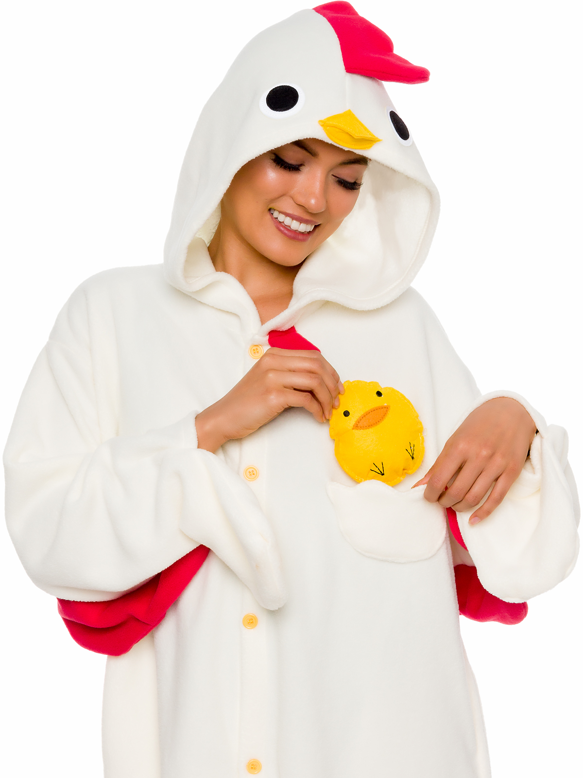 316f8472198 SILVER LILLY Unisex Adult Plush Chicken Animal Cosplay Costume Pajamas  (Large)