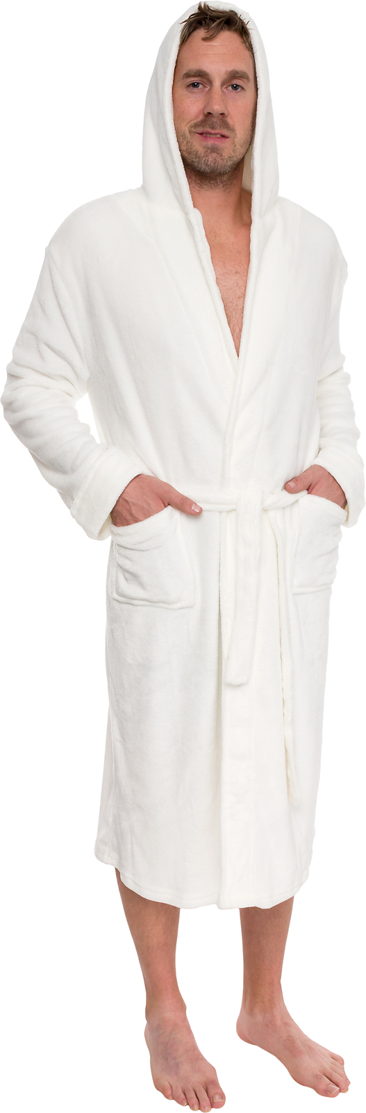 ross michaels mens plush shawl kimono bathrobe hooded robe ebay. Black Bedroom Furniture Sets. Home Design Ideas