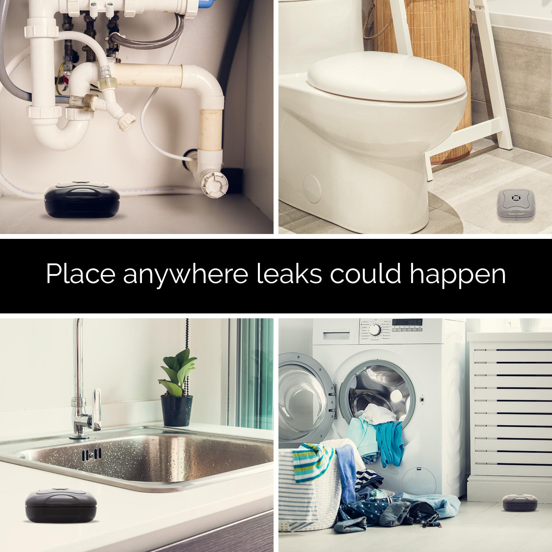 Mindful Design NEW Home Water Leak Detection Flood Alarm Sensor EBay - Bathroom leak detection