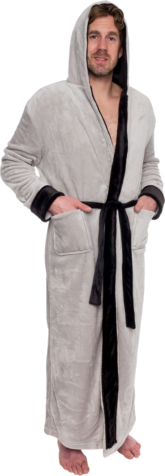 37c008b0b2 Ross Michaels Mens Hooded Full Length Big and Tall Long Bath Robe ...