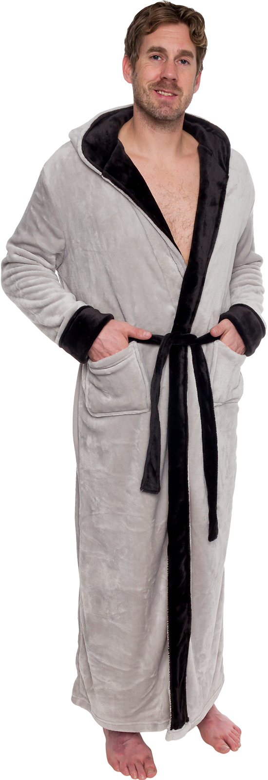 dddef0fb9d Ross Michaels Mens Hooded Full Length Big and Tall Long Bath Robe