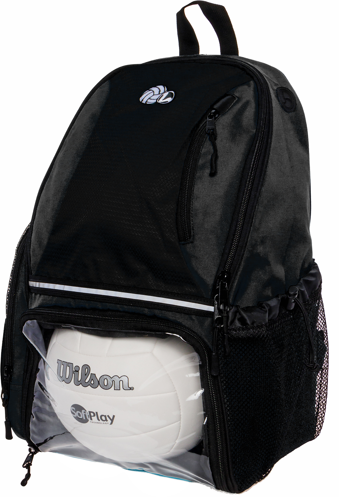 b4f5d32ba8 Details about LISH Girls Large School Sport Volleyball Backpack Bag w Ball  Compartment (Black)