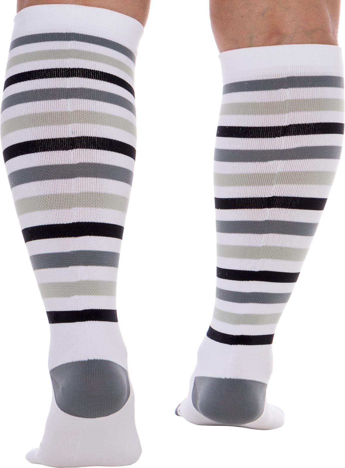 Graduated 15-25 mmHg Knee High LISH Womens Striped Compression Socks
