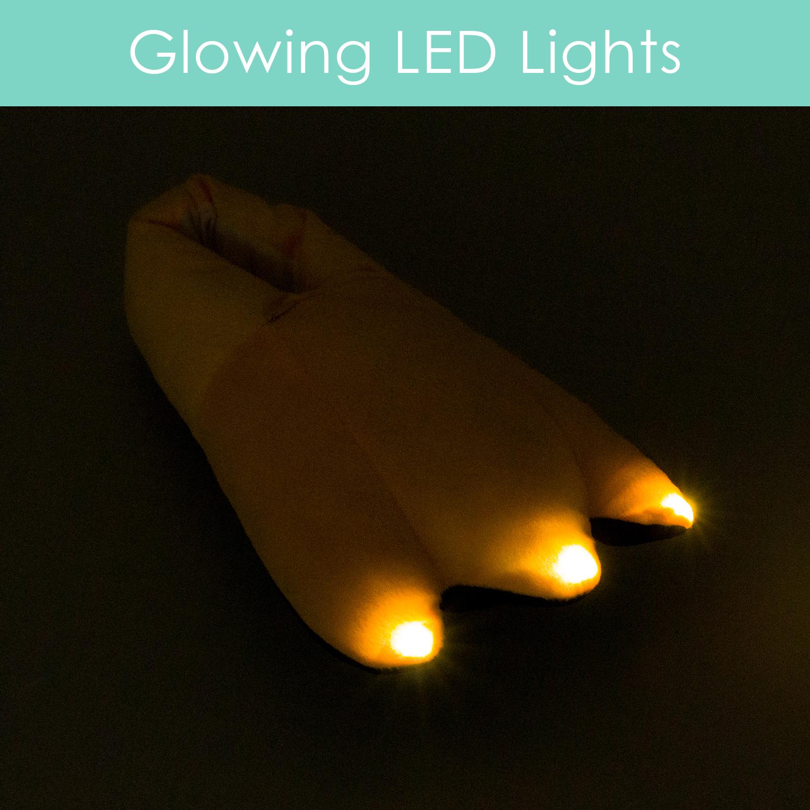 561e2e59d9e0 Silver Lilly Duck Feet LED Slippers - Light Up House Shoe w  Comfort Foam  (XL)
