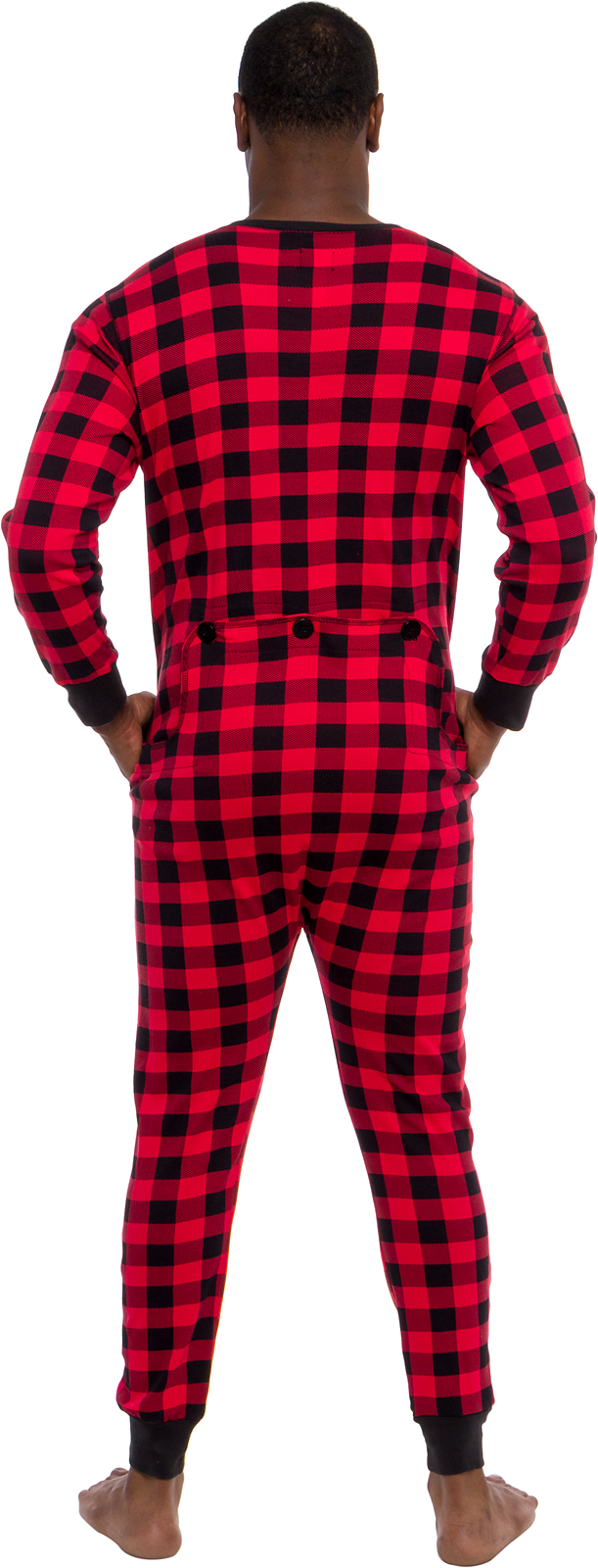 Ross Michaels Mens Buffalo Plaid One Piece Union Suit