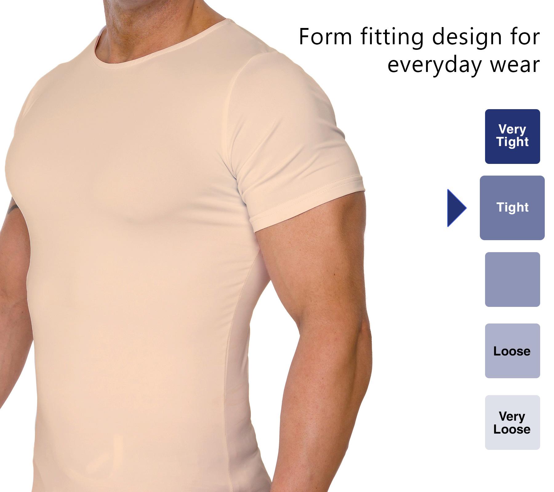 LISH-Men-039-s-Slimming-Compression-Body-Shaper-Gynecomastia-Undershirt thumbnail 16