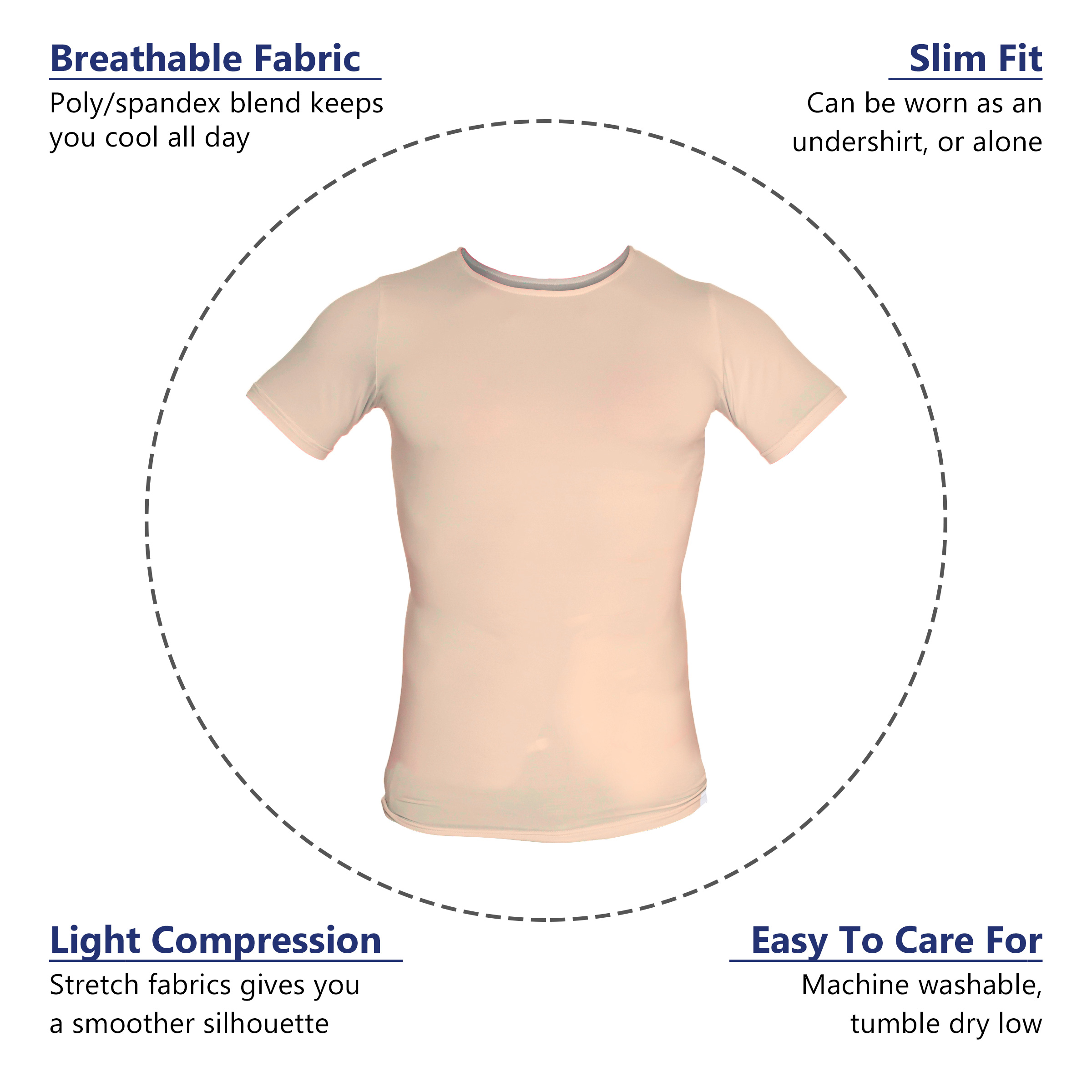 LISH-Men-039-s-Slimming-Compression-Body-Shaper-Gynecomastia-Undershirt thumbnail 20