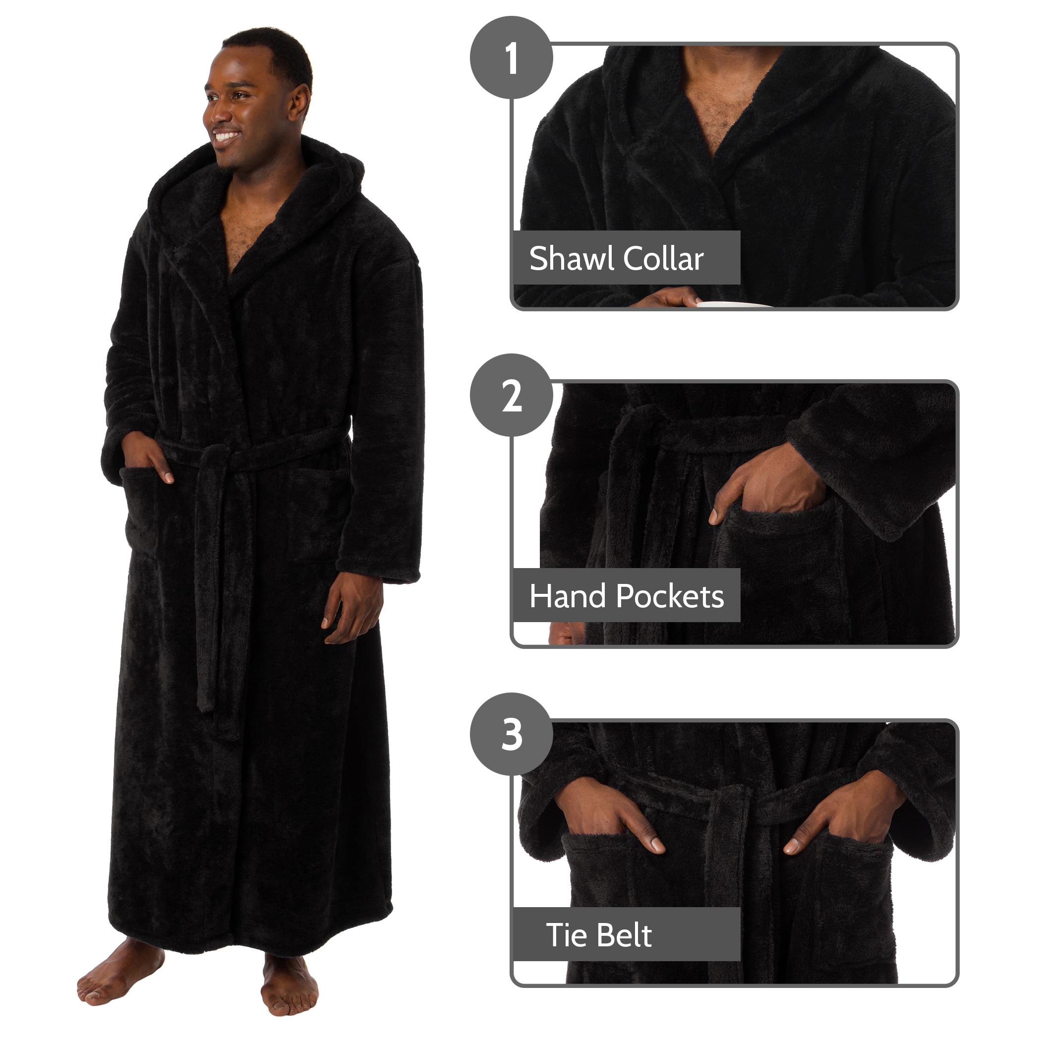 559e722752 Ross Michaels Mens Luxury Hooded Full Length Big and Tall Long Bath ...