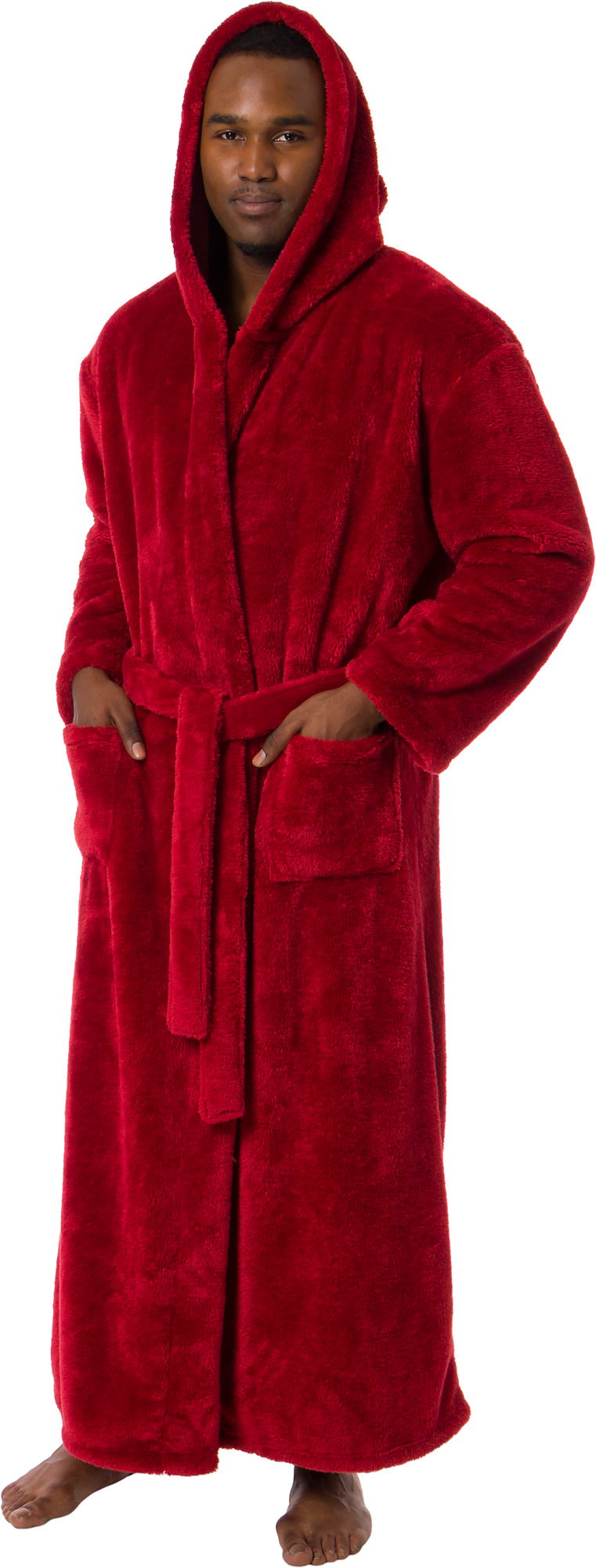 Ross Michaels Mens Luxury Hooded Full Length Big And Tall